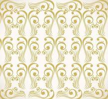 fondo de patrón con elementos decorativos de oro de lujo vector
