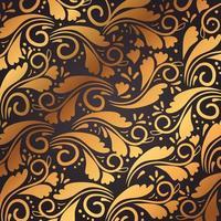 patrón de fondo de elementos decorativos de oro vector