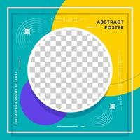 Social media post banner with abstract design