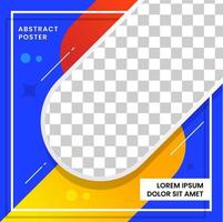 Poster template design with abstract design