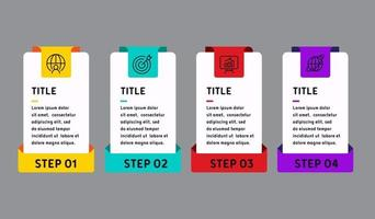 infografía de plantilla para negocios vector