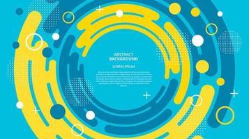 Fondo de memphis cicircles centrado plano abstracto vector