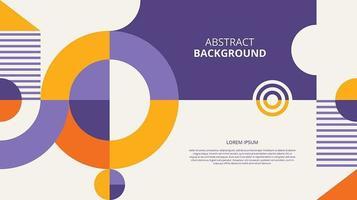 Fondo de círculos geométricos planos abstractos vector