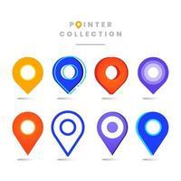 colección de diferentes ubicaciones de puntos vector