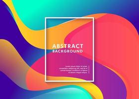 fondo fluido abstracto colorido futurista vector