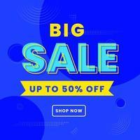 cartel de gran venta para compras en línea vector