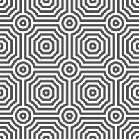 Abstract seamless curvy circle square shapes pattern. Abstract geometric pattern for various design purposes. vector