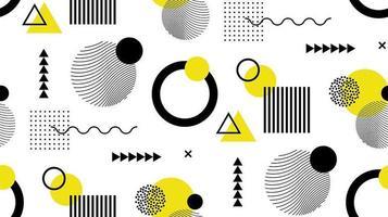 Fondo de memphis de formas geométricas planas abstractas vector