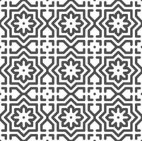 Abstract seamless arabic flower star shapes pattern. Abstract geometric pattern for various design purposes. vector