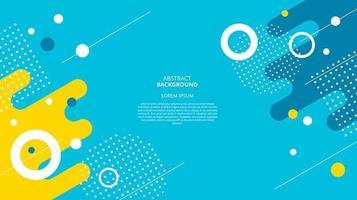 Abstract flat circular geometric background