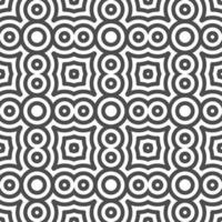 Abstract seamless curvy circle shapes pattern. Abstract geometric pattern for various design purposes. vector