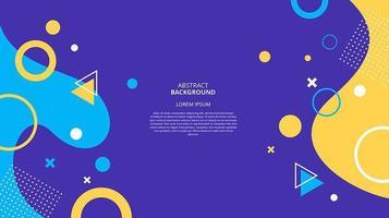 Fondo de memphis geométrico plano abstracto vector
