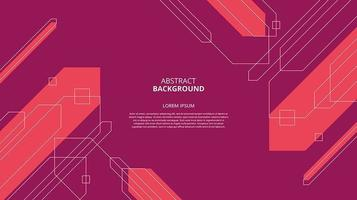 Abstract flat red geometric shapes background