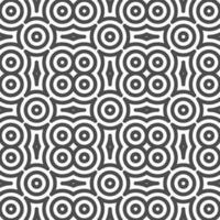 Abstract seamless curvy circular shapes pattern. Abstract geometric pattern for various design purposes. vector