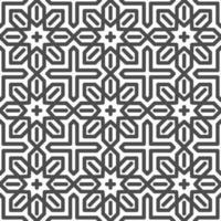 Abstract seamless hexagonal arabic star shapes pattern. Abstract geometric pattern for various design purposes.