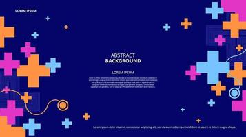 Abstract flat blue cross shapes background vector