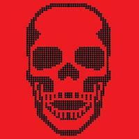Rhinestones skull, vintage design t shirts vector