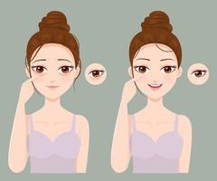 Problems of wrinkles and black eye