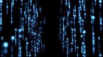 colonnes de symboles numériques hexagonaux bleus.