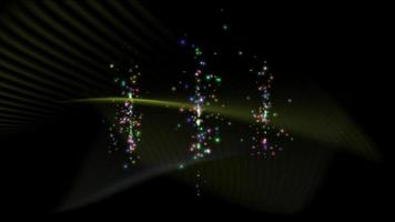 Abstract colorful particle on black background