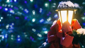 lâmpada do feriado de natal pós loop de movimento contínuo