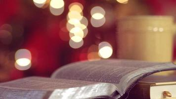 bíblia de férias de natal sem costura movimento loop