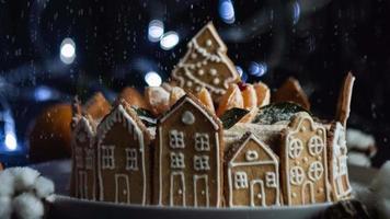 Natal feriado pão de mel neve sem costura loop
