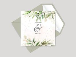 hermosa tarjeta de invitación de boda floral dibujada a mano