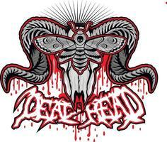 death's-head hawk moth and skull, grunge vintage design t shirts vector