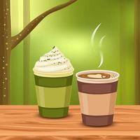 Aromatic coffee in the freshness vector
