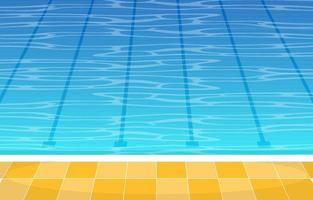 Swimming Pool with Lanes vector