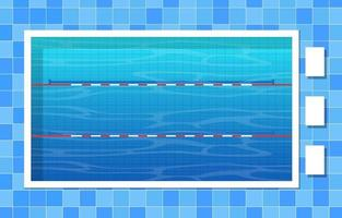 Swimming Pool with Lanes and Ropes vector