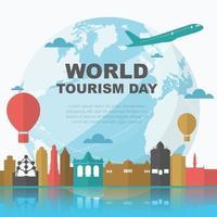 bruselas belguim horizonte en el mundo, día mundial del turismo vector