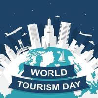 horizonte de florida en el mundo, día mundial del turismo vector
