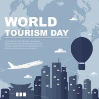 día mundial del turismo, seúl, corea del sur, horizonte en el mundo vector