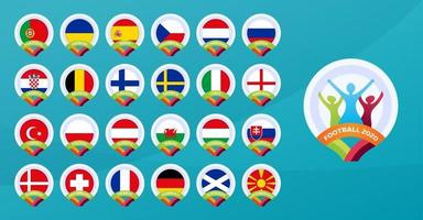 football 2020 national team vector