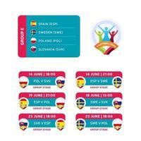 football 2020 group e vector
