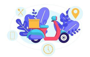 Scooter for Express Delivery Service vector