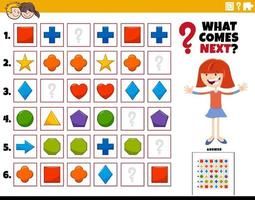 fill the pattern educational activity for kids vector