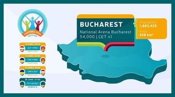 Bucharest stadium football 2020 vector
