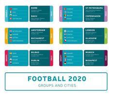 football 2020 group set vector