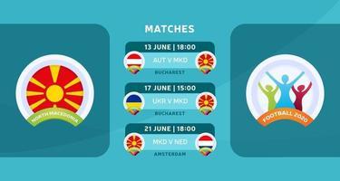 north Macedonia team matches vector