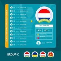 netherlands team lineup vector