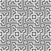 Abstract seamless rotated zigzag line, dot, square shapes pattern. Abstract geometric pattern for various design purposes. vector