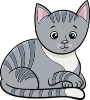 tabby cat or kitten cartoon animal character vector