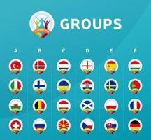football 2020 groups vector