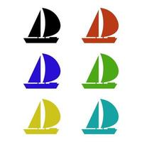 sailboat on white background vector