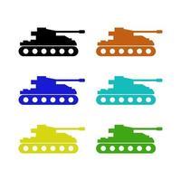 Tank Set On White Background vector