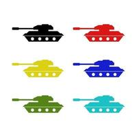 Tank Set On White Background vector
