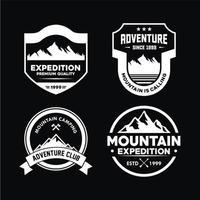 insignia de aventura y logotipos para camiseta, emblema y pegatina vector